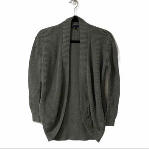 American Eagle Grey Knit Open Front Cardigan | XS